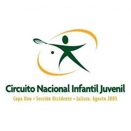 free vector Circuito nacional infantil juvenil