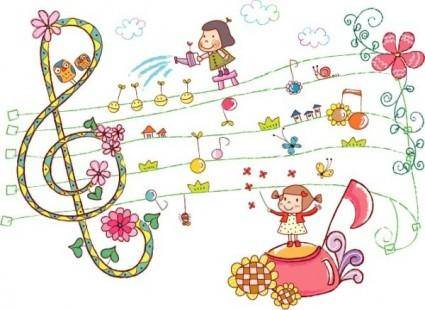 free vector Lovely handdrawn style vector 2
