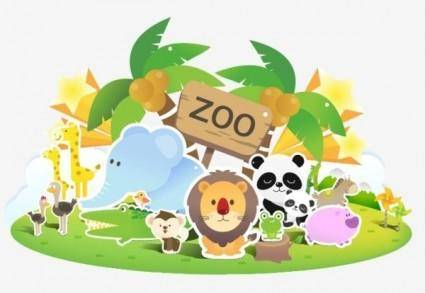 free vector Zoo lovely vector