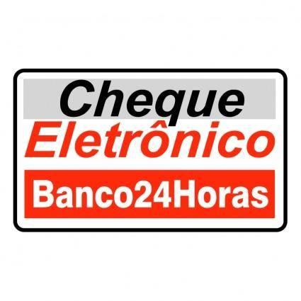 Cheque eletronico banco 24 horas