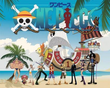 free vector Vector one piece straw hat pirates family portrait
