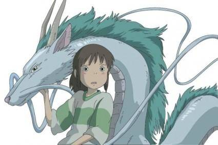 free vector Mice painted with the white dragon vector chihiro