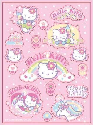 free vector Kitty with pink unicorn vector