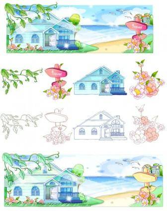 free vector Handdrawn style summer style series vector 2