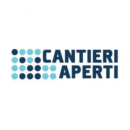 free vector Cantieri aperti