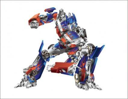 free vector Transformers optimus prime vector