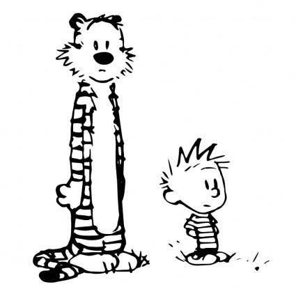 free vector Calvin and hobbes