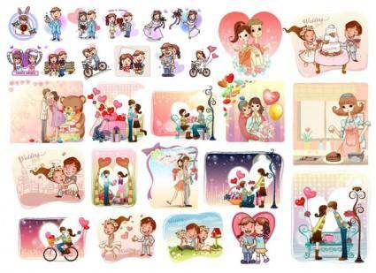 free vector 28 love theme vector
