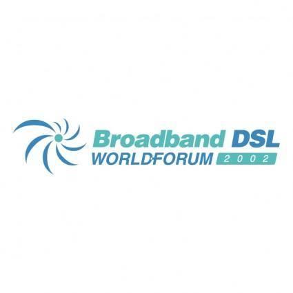free vector Broadband dsl world forum