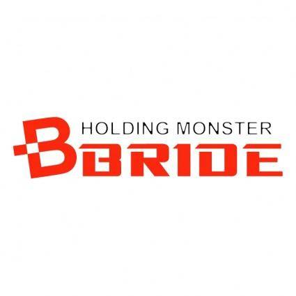 Bride holding monster