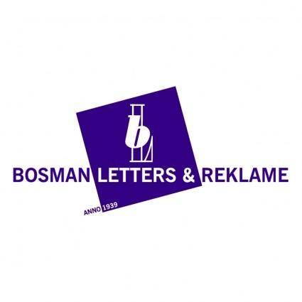 Bosman letters reklame 0