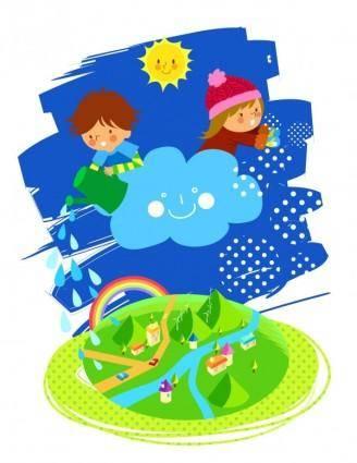 free vector Vector 4 lovely children