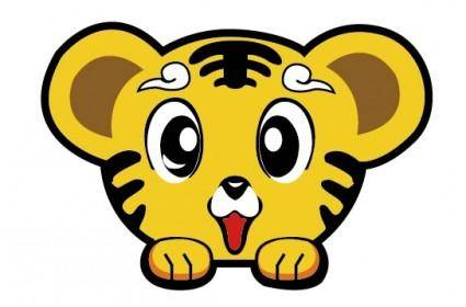 free vector Cute little tiger