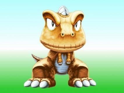 free vector Japanese comics small dinosaur argonne