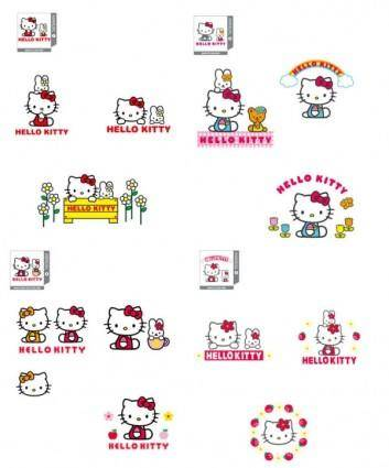 free vector Hello kitty official vector 14