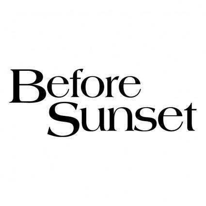 free vector Before sunset