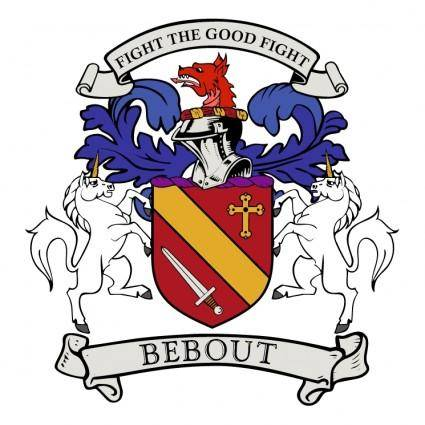 free vector Bebout family crest