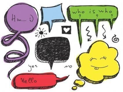 free vector Lovely handdrawn dialogue bubble vector 4
