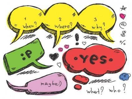 Lovely handdrawn dialogue bubble vector 5