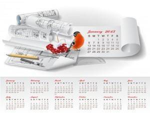 Creative Calendar 2013 design vector