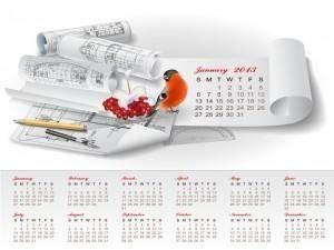 Creative Calendar 2013 design vector 4
