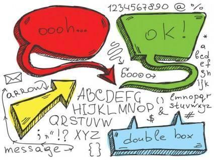 free vector Lovely handdrawn dialogue bubble vector 2