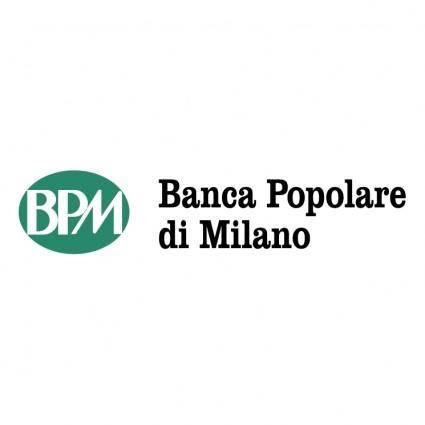 free vector Banca popolare di milano