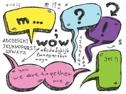 Lovely handdrawn dialogue bubble vector 3