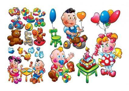 free vector Theme of children toys vector