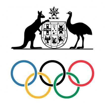 free vector Australian olympic committee