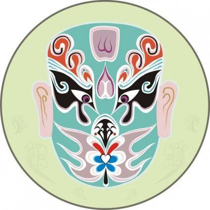 Traditional chinese mask vector