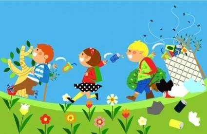 free vector Children environment vector 8