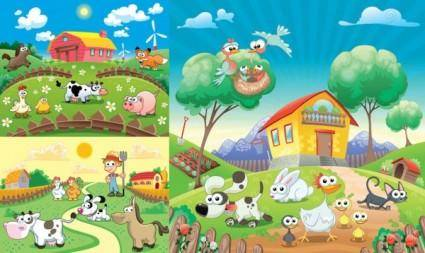 free vector Happy farm lovely vector