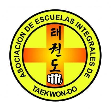 free vector Asociacion de escuelas integrales de taekwon do