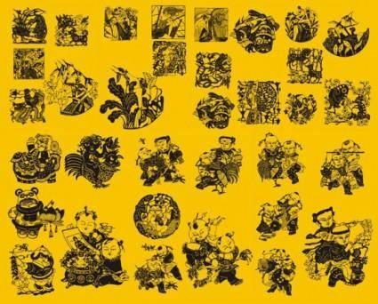 free vector Papercut character art vector