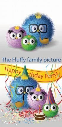 free vector Cute hair bulb family vector