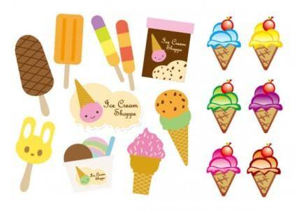 Vector cute ice cream