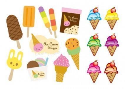 free vector Vector cute ice cream