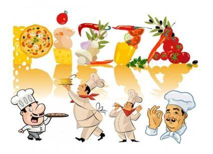 free vector Chefs and food clip art