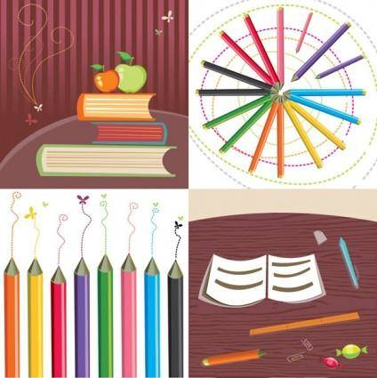 Cute stationery vector