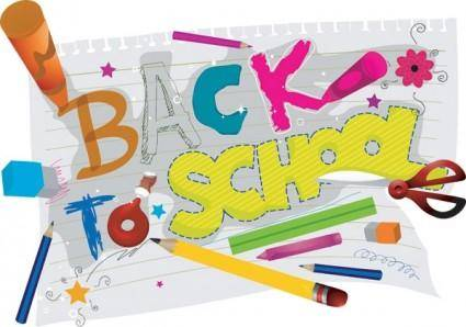 School theme vector