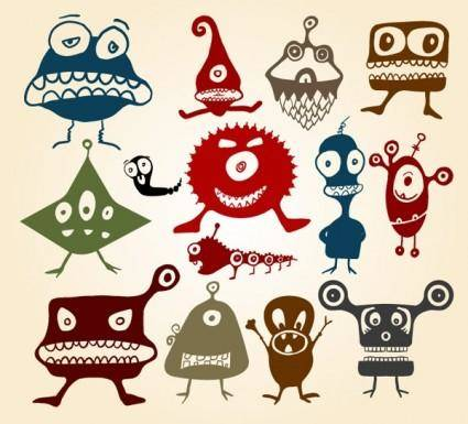 free vector Vector cute little monster