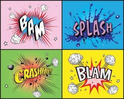 Comic style element vector