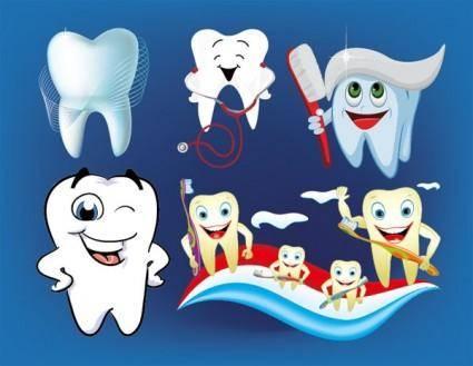 Dental care lovely illustrations vector