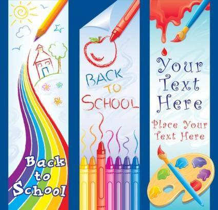 free vector Children lovely painting theme vector