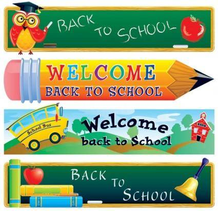 free vector Cute school theme vector