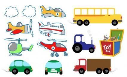 Cute toys vector