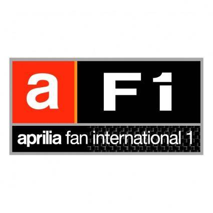 free vector Af1 aprilia fan international