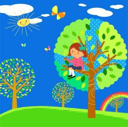 free vector Lovely children vector