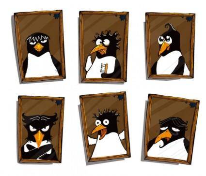 Cute penguin photo vector